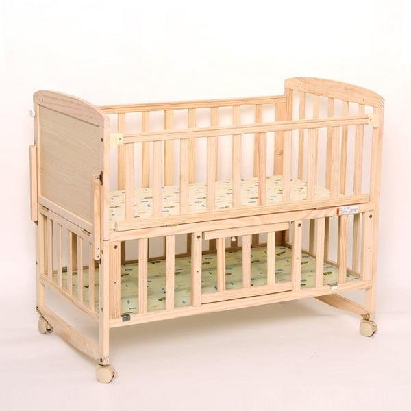 Nôi Cũi gỗ, giường cũi cho bé 2 tầng