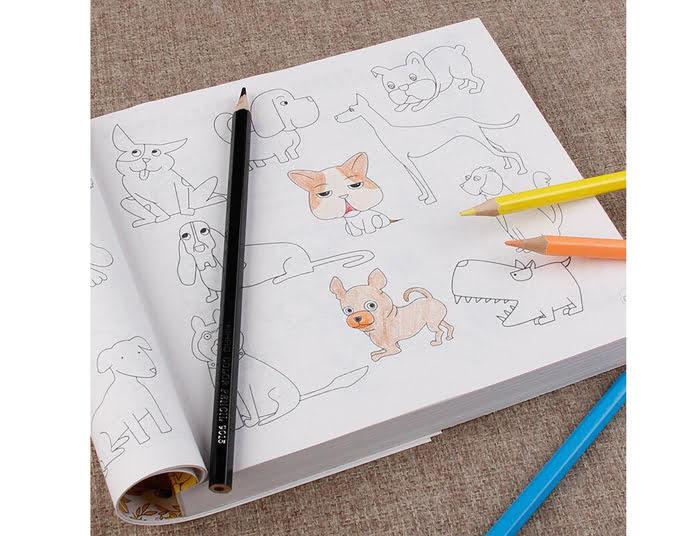 Bộ tập tô cho bé kèm bút siêu dễ thương