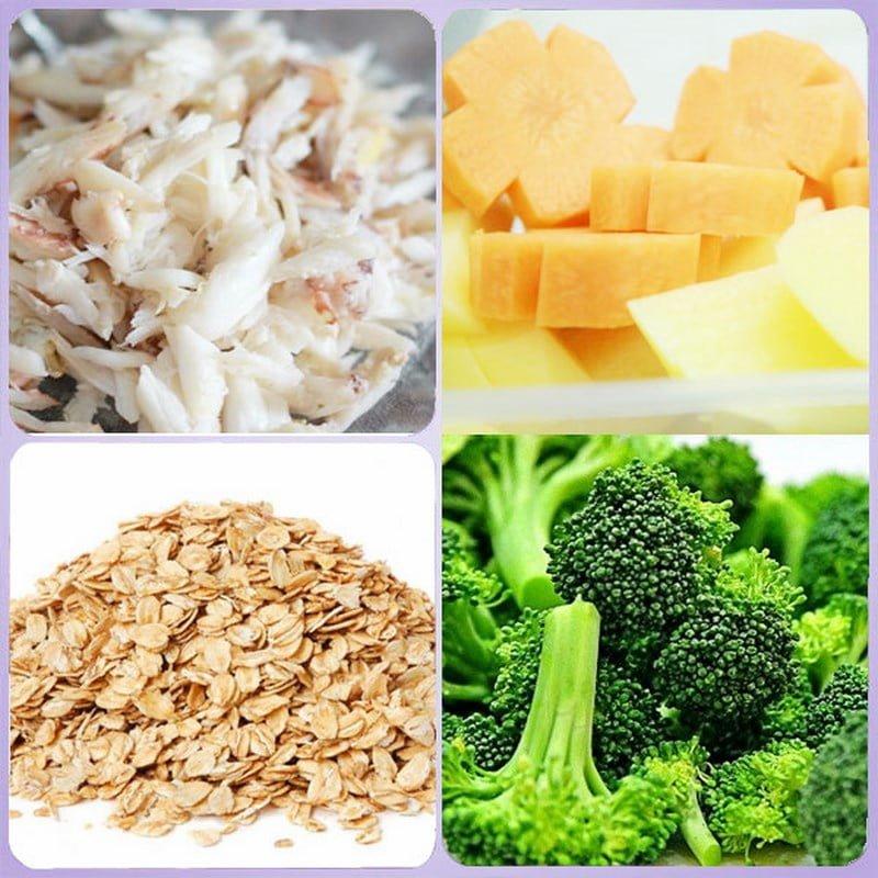 Cháo yến mạch với các loại rau củ