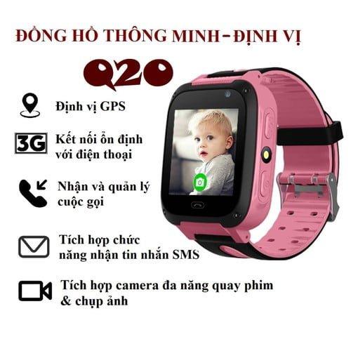 Đồng hồ định vị trẻ em nghe gọi chống nước Q20