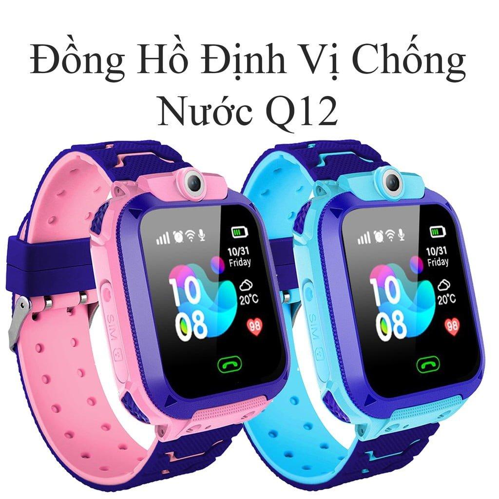 Đồng hồ thông minh trẻ em Q12 / IP67 chống nước + Camera 30W + SOS + LBS Định vị / Đa chức năng