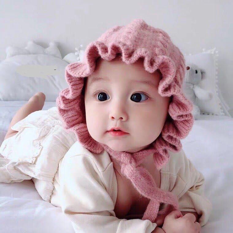 Mũ len tai bèo siêu đáng yêu dành cho bé gái