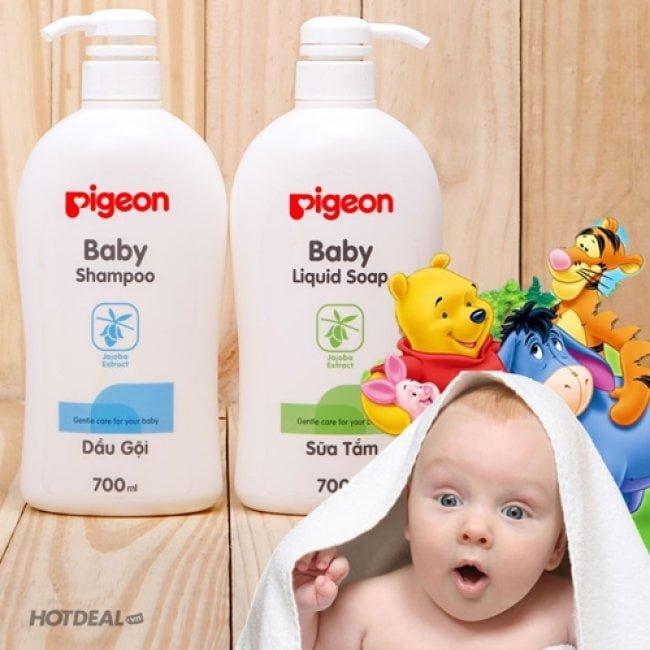 Sữa Tắm Gội Toàn Thân Cho Bé Pigeon Baby