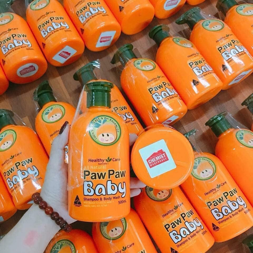 Sữa tắm gội Healthy Care All Natural Paw Paw Baby