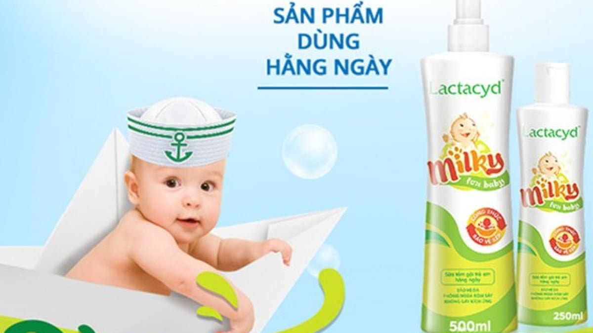 Sữa tắm gội trẻ em Lactacyd Milky