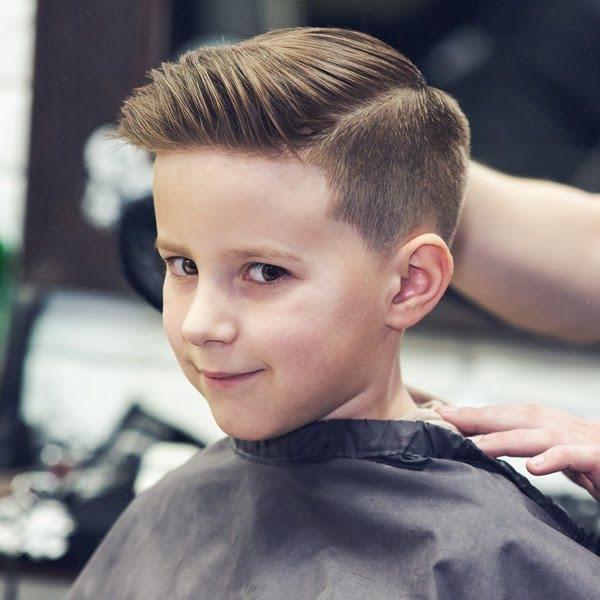 Sau khi bé được cắt tóc