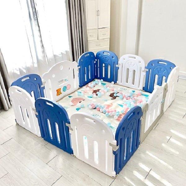 XEM CHI TIẾT QUÂY CŨI CHO BÉ Holla Vương miện Tặng kèm 3 món , 100 bóng nhựa, 1 thảm êm, 1 rổ bóng.