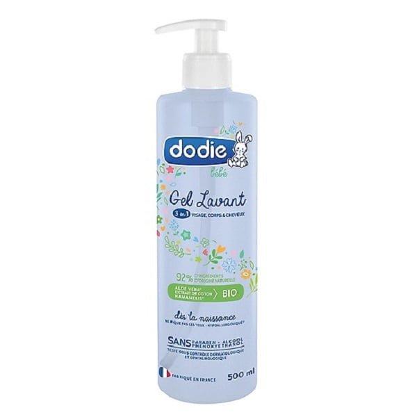 Sữa tắm nguyên liệu hữu cơ 3 trong 1 Dodie