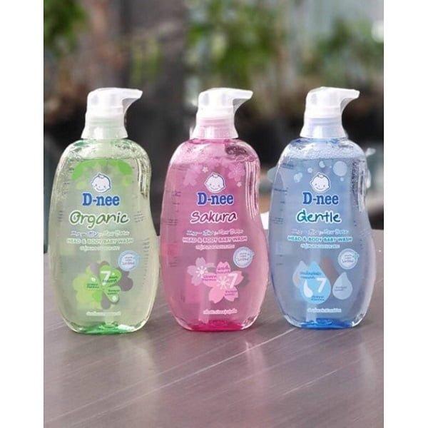 Sữa tắm gội toàn thân hữu cơ cho bé Dnee Organic